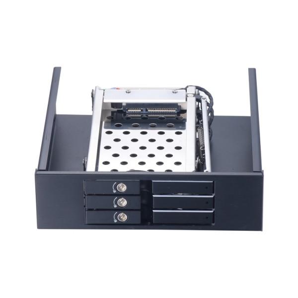 2.5寸3盘位SATA光驱位铝合金免工具硬盘抽取盒