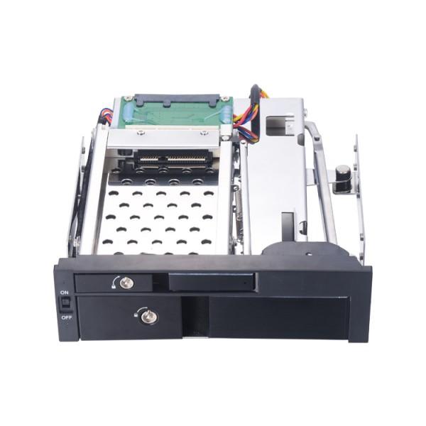 机箱光驱位硬盘盒2.5寸+3.5寸SATA硬盘扩展存储托架