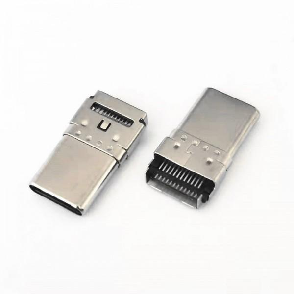 TYPE-C 24P双贴公头 双排贴片 高13.75