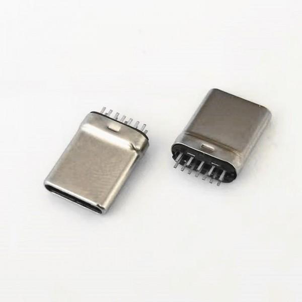TYPE-C 12PIN夹板公头 夹板1.0 高10.6