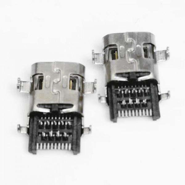 沉板式 HDMI母座 19P 90度 前插后贴 板上1.5