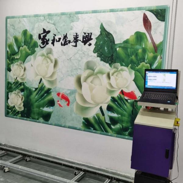 3d广告壁画打印机立体全自动墙体喷绘彩绘机器