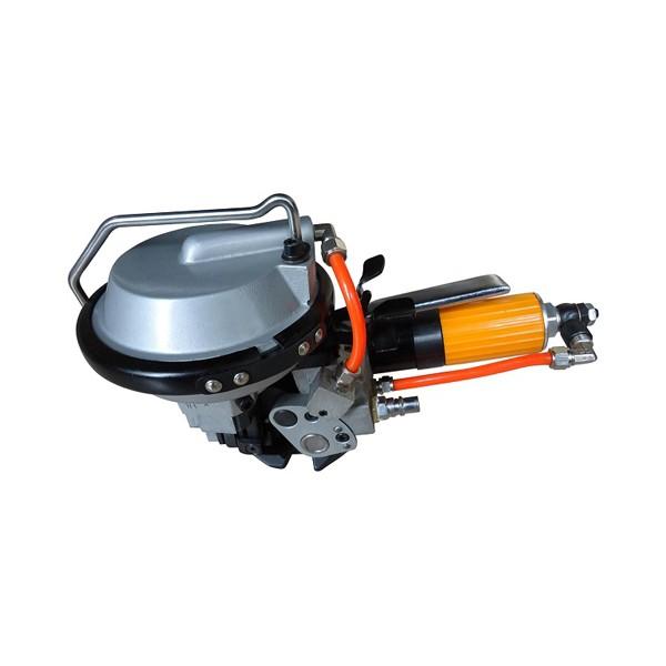直销钢管专用气动打包机,型号J480一体气动拉紧机