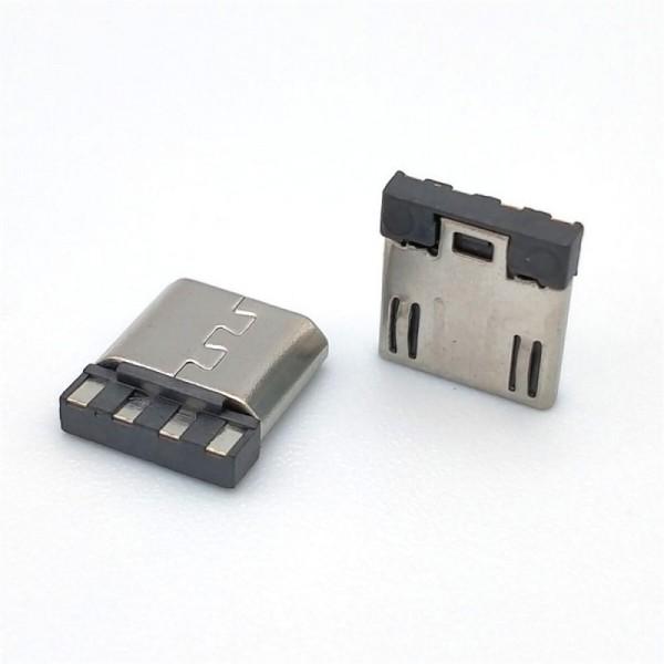 MICRO USB 5P公头焊线式超短体前五后四有弹