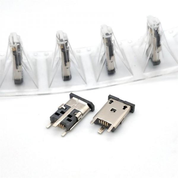 MICRO USB 5P母座立式插板加高10.010.5加长