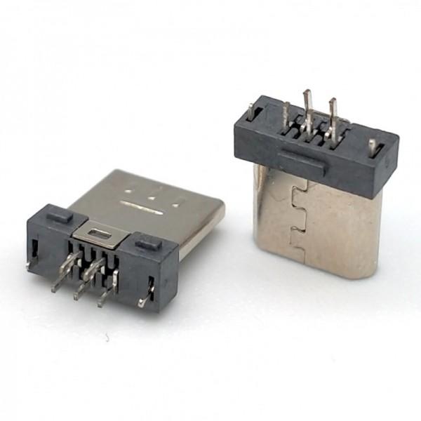 MICRO超短体 5P公头夹板0.8加长针1.2正反针脚
