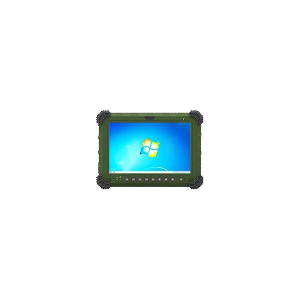 军绿色10寸军工级手持加固平板电脑