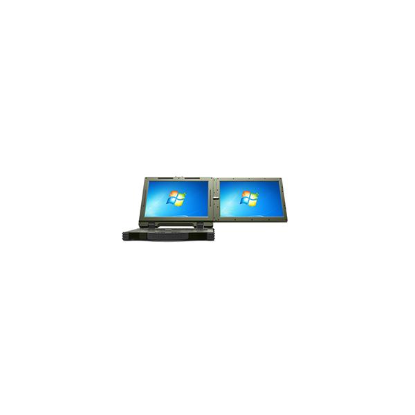 国产双屏显示全加固军用笔记本电脑