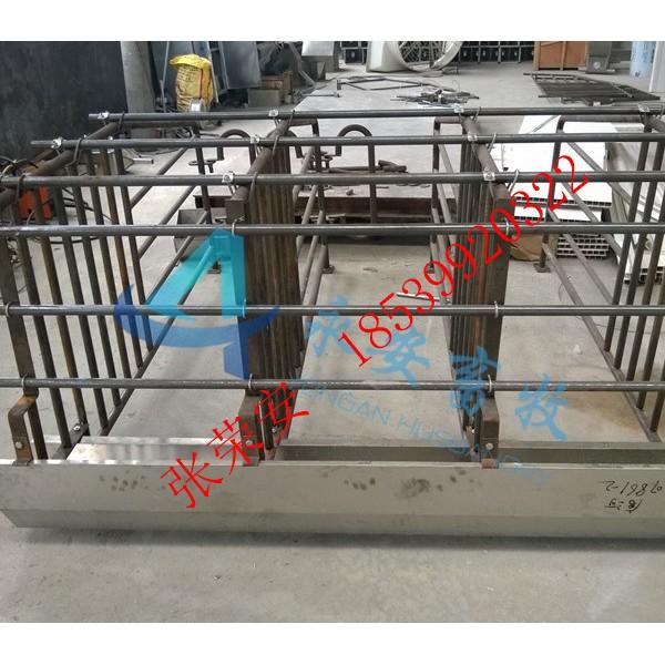 热浸锌定位栏+通体食槽