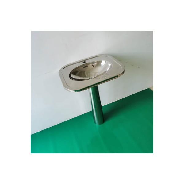 304材质立柱洗手盆 不锈钢带立柱洗手盆