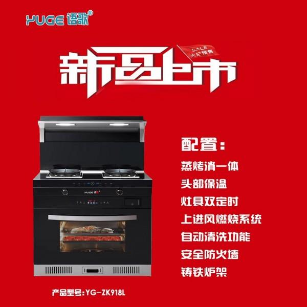 中国环保集成灶智能橱柜 十大品牌语歌集成灶