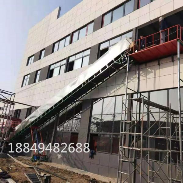 二楼货物装卸车输送机 液压升降装车流水线 悬挂式架高输送线