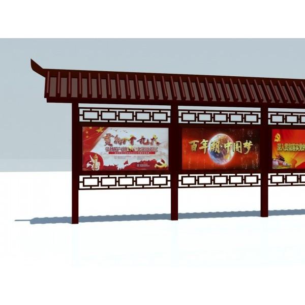 滁州校园宣传栏侯车亭广告牌精神堡垒价值观垃圾分类亭