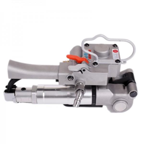 PET气动塑钢带打包机气动热熔捆扎机手提式免扣塑料带捆扎机