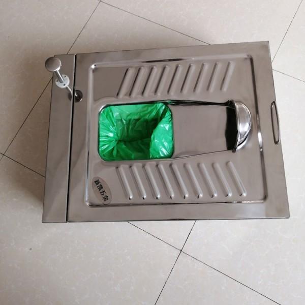 不锈钢打包蹲便器 景区厕所免冲蹲便器