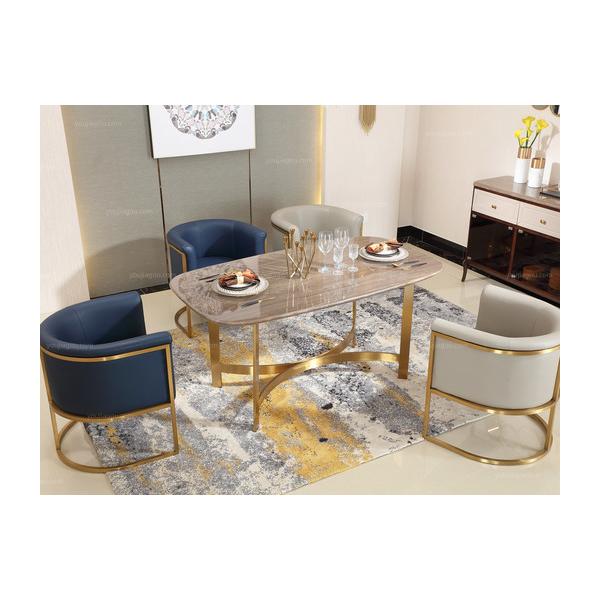 佛山六号仓家居不锈钢家具餐桌2