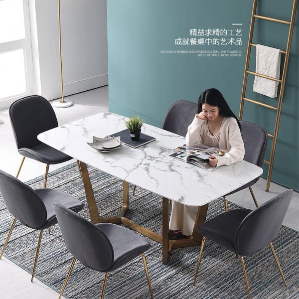 佛山六号仓家居不锈钢家具餐桌9
