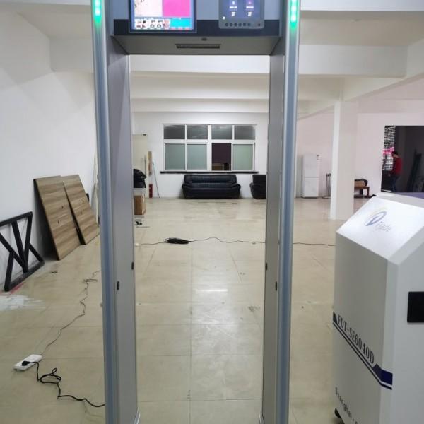 琼玖双屏测温安检门,快速测温,温度显示,语音播报等功能