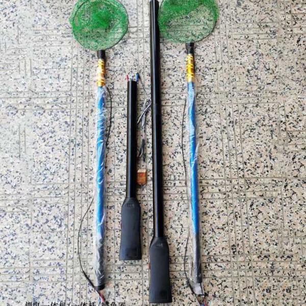 27电4.5米锂电一体杆,打渔杆锂电池配件