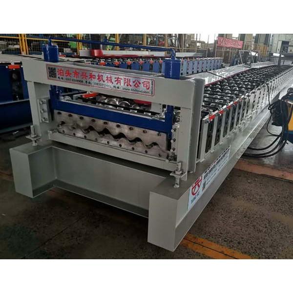 圆弧横挂板设备厂家兴和 780全自动压瓦机价格