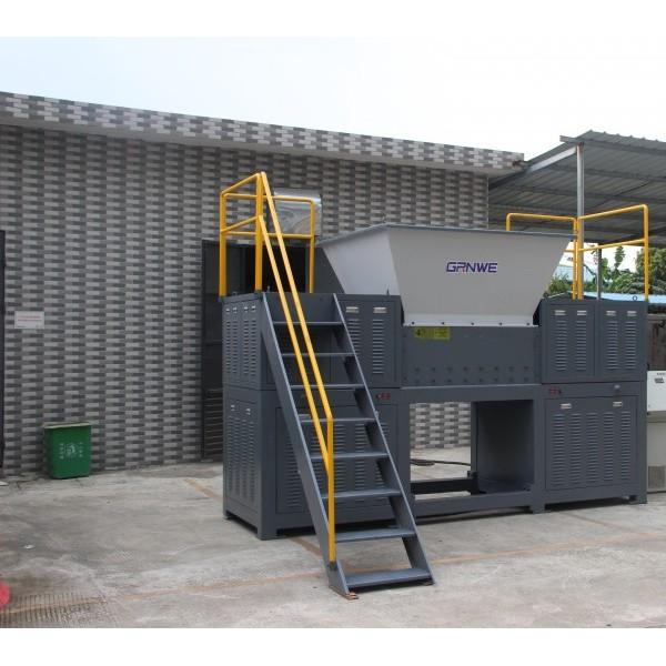 广东HDPE工业圆形蓝桶胶框保险杠塑料破碎机