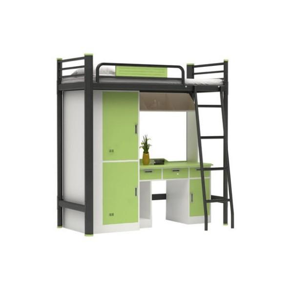 钢制大学生宿舍公寓床单人学生宿舍床上床下桌工厂批发定制