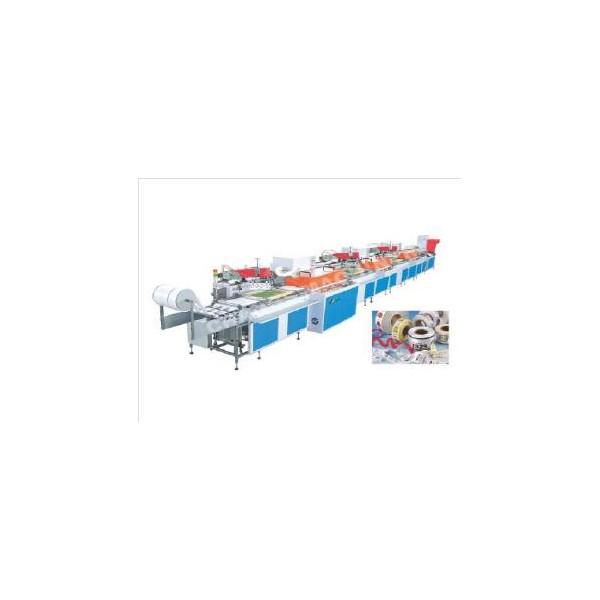 全自动丝网商标印刷机水洗标印花机唛头丝印机