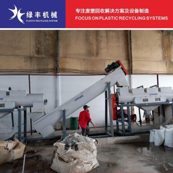 报废太空袋回收处理生产线 pp吨包袋麻袋破碎清洗设备