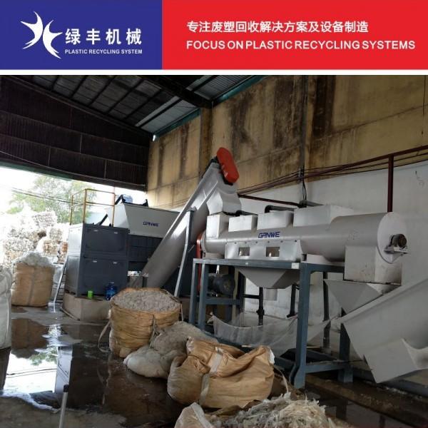 废弃保鲜袋破碎清洗设备 HDPE农业水果膜回收加工生产线