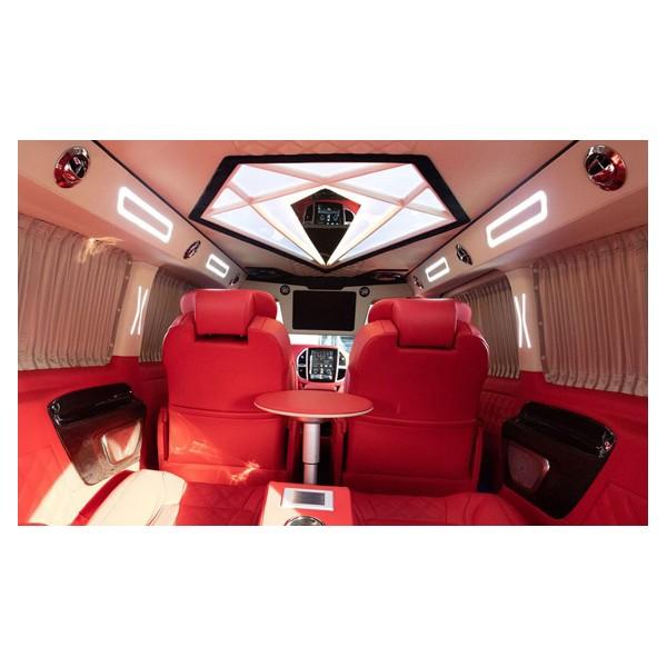 奔驰威霆改装木地板航空座椅沙发床电动中尾门奔驰V级商务改装