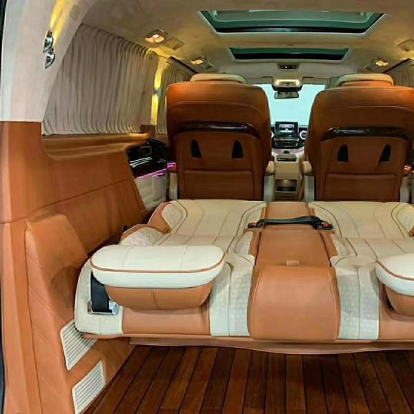 深圳威霆V260定制改装 整车设计 航空座椅木地板电中尾门