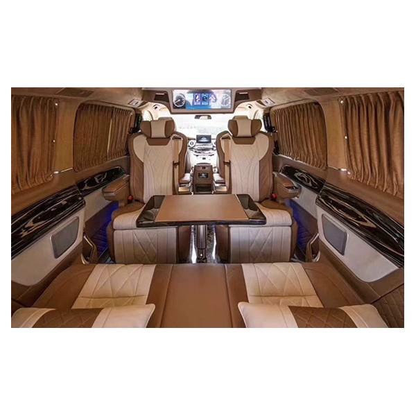 奔驰威霆航空座椅V260内饰改装沙发床木地板包围电动中门配件