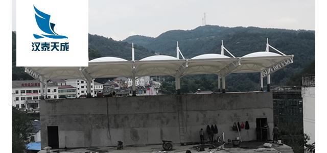 咸宁遮阳棚订做 汽车棚膜结构 咸宁充电站遮阳棚张拉膜结构