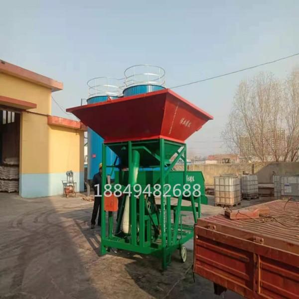 大料斗玉米清选机 铲车上料玉米清杂筛 小麦去杂筛选机
