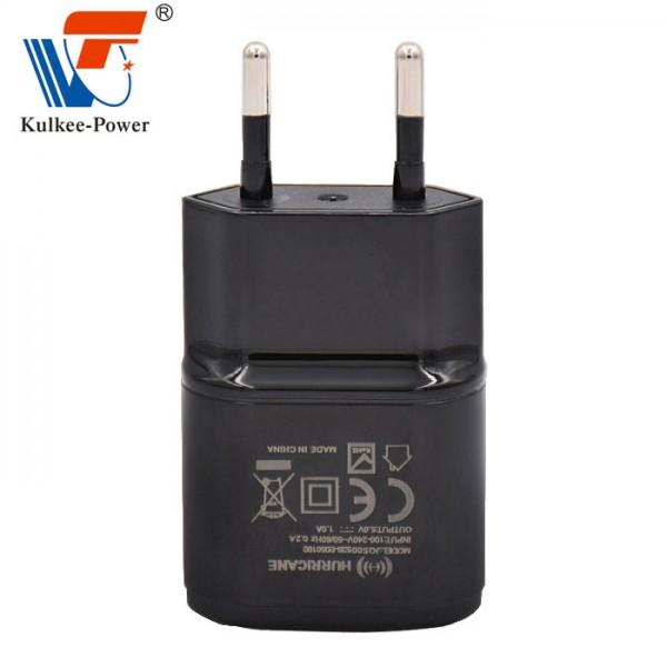 12W欧规GS&CE直插黑色复读机电源适配器