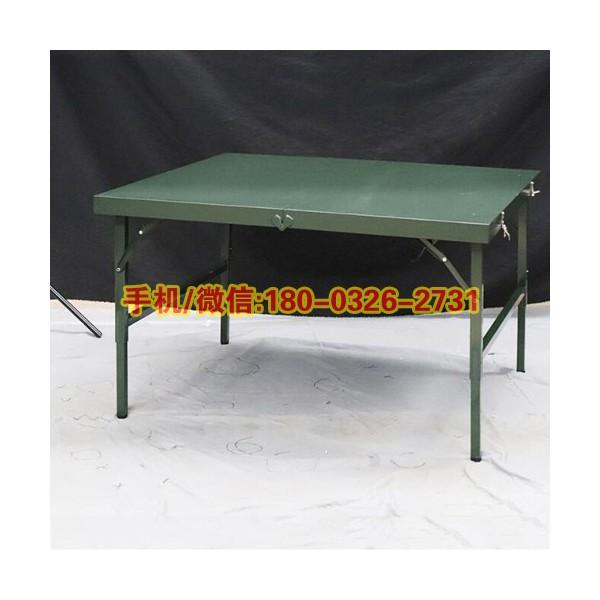 野营加厚指挥折叠桌钢制训练桌户外折叠作业桌野外会议桌指挥桌