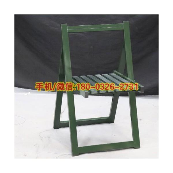 钢木野外训练椅户外靠背钢制木条椅户外作业折叠会议椅钢木折叠椅
