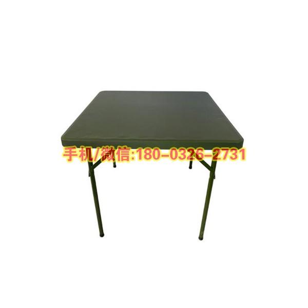 新材料野营作业桌便携可折叠指挥桌军绿色训练桌高压聚乙烯折叠桌
