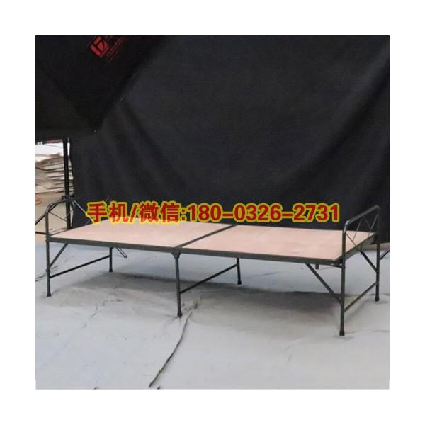 两折木板床便携式野外作业竹板床简易露营折叠床可折叠木板床