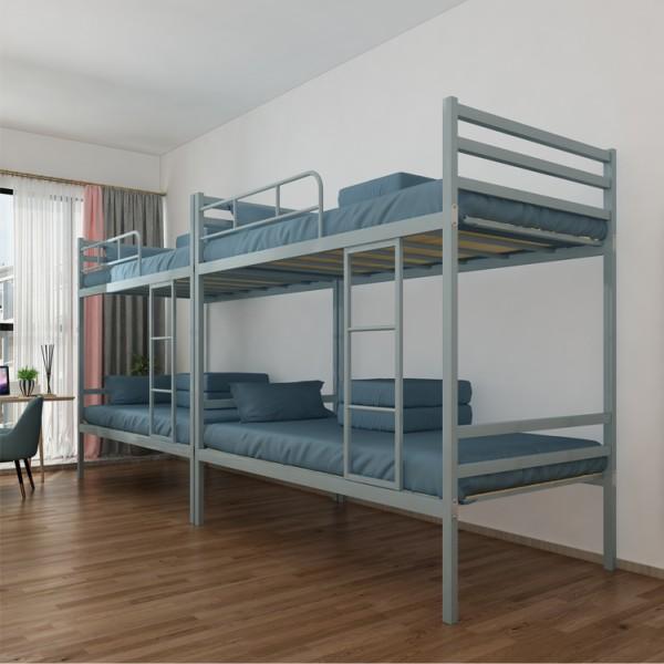 香河悦博办公家具上下铺铁架床双层成人学生员工宿舍高低床钢铁床