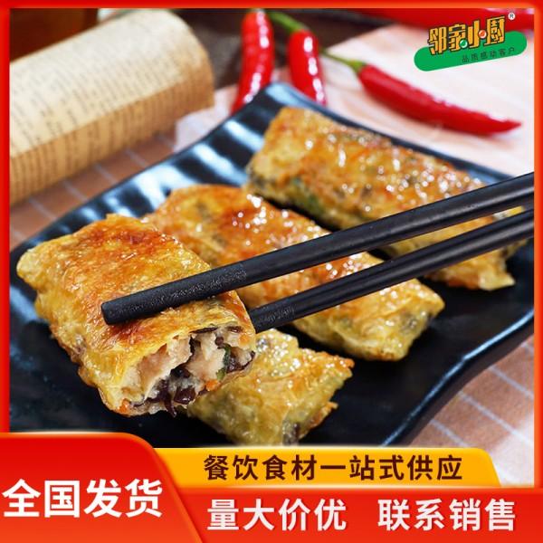 鸡丝腐竹卷 潮汕砂锅粥腐皮卷 私家菜面点主食热食批发全国发货