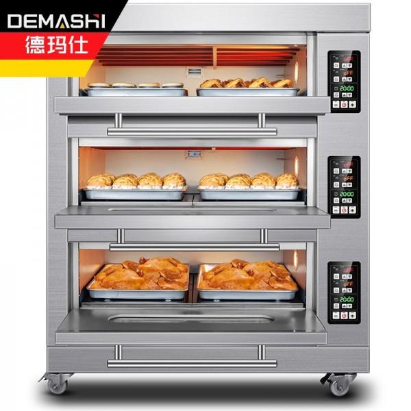德玛仕大型烘焙烤箱商用电烤箱三层六盘 EB-J6D-Z