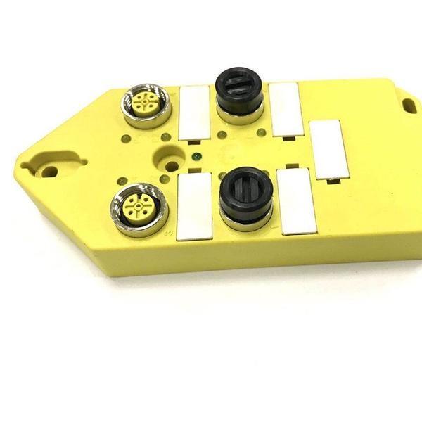 M12分线盒4口单通道分体式带M23-12针插座