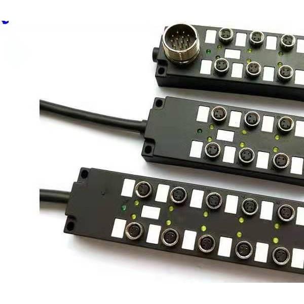 M8分体式 I/O分线盒12口带M23插座19针