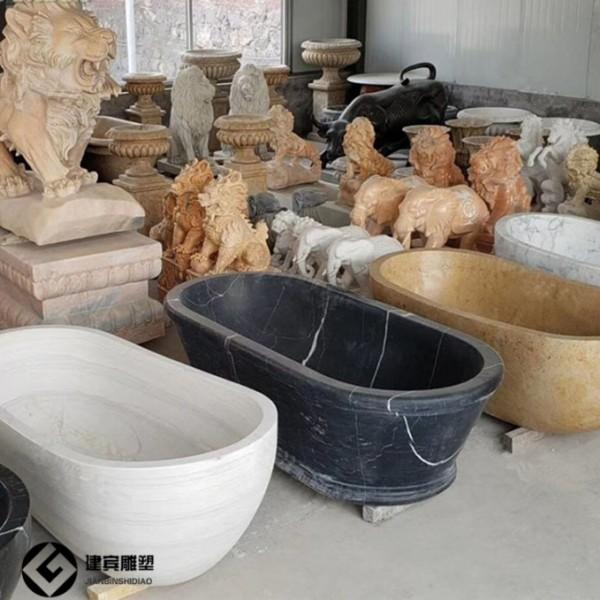 别墅大理石石头浴缸石雕洗澡盆各种尺寸厂家供应
