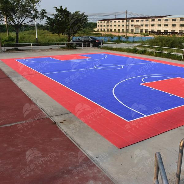 学校操场悬浮拼装地板生产厂家直销 实惠质量保证
