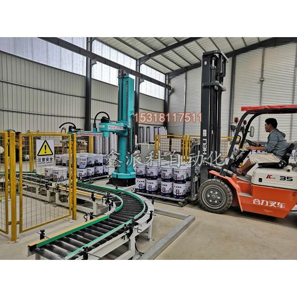 立柱机器人码垛机在饲料行业的应用