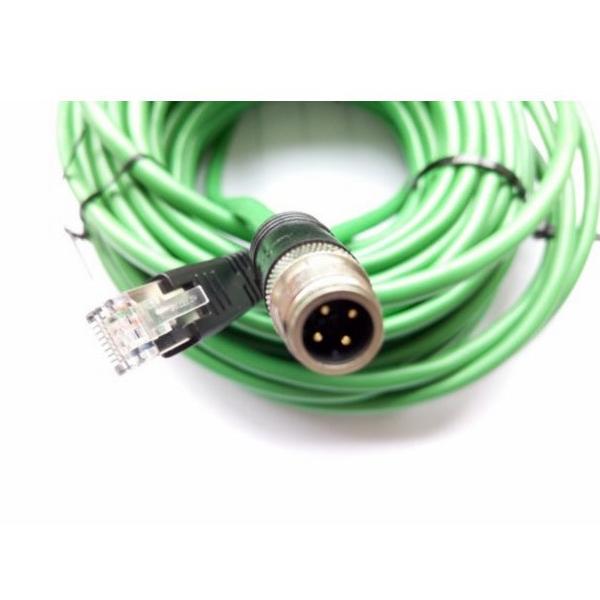 科迎法电气D型双端预制M12以太网连接器转RJ45