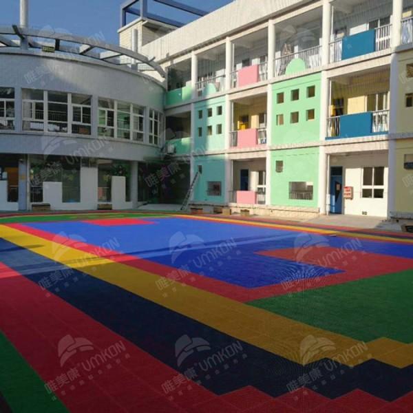 环保悬浮地板篮球场弹性拼装运动地板厂家销售