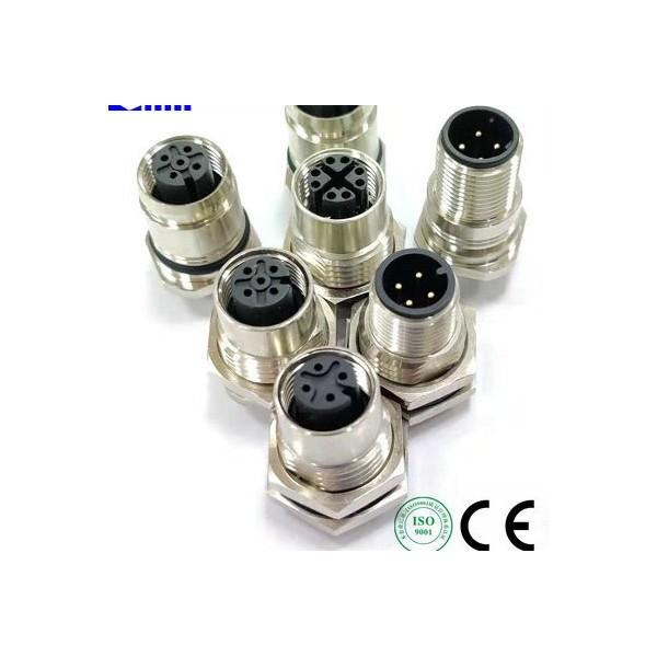 M12航空插座M12机柜插座M12工业防水插座M12信号插座